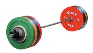 Olympics weight lifting bar & plates