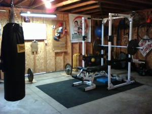 Example cheap workout area