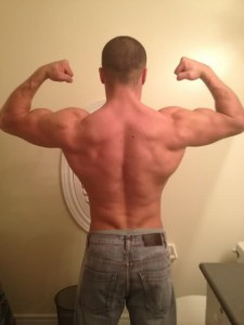 Big lats create V shape